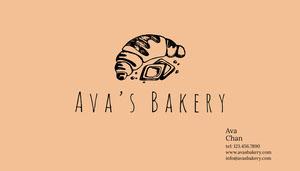 Ava's Bakery Business Card