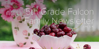 5th Grade Falcon Family Newsletter