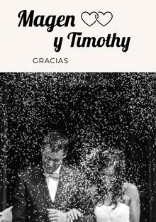 black and white photo wedding thank you cards Tarjetas de agradecimiento de boda