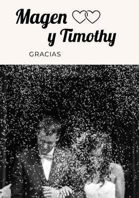 black and white photo wedding thank you cards Tarjeta de agradecimiento