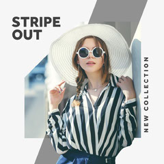 Black White and Grey Fashion Store Promo Instagram Square  New Collection