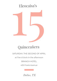 Orange Quinceanera Birthday Invitation Card d'anniversaire