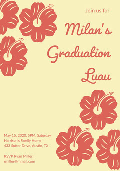 Milan's Graduation Luau Education