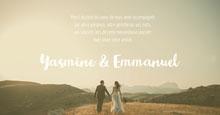 Green Landscape Wedding Thank You Card - Facebook Post Carte de remerciement de mariage