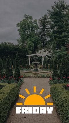 Sunshine Friday Snapchat Filter Garden