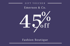 Violet and White Gift Voucher Gift Card