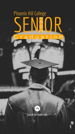 Senior Grad instagram story College