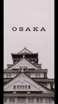 Black and White Osaka Social Post Japan