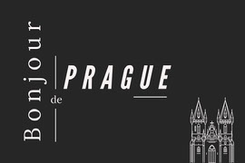 Black and white Hello from Prague Postcard Carte postale
