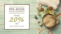 Light Toned Spa Discount Offer Facebook Banner Cosmetic