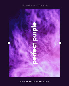 Purple Album Release Instagram Portrait Launch