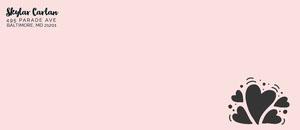 Pink Hearts Envelope Envelope