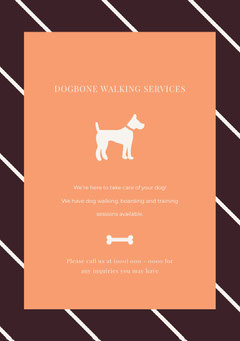 DOGBONE WALKING SERVICES Dog Flyer