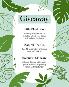 Nature-Themed Giveaway Announcement List Giveaway