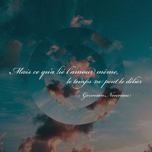 Blue dark Sky Germain Nouveau Love Quote Instagram Square Affiche de motivation