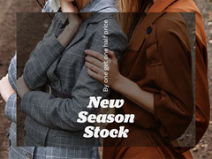 New Collection Fashion Store Ad with Women New Collection