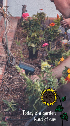 Sunflower and Gardening Snapchat filter Garden