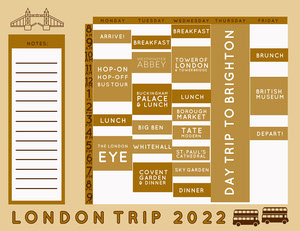 Neutral Travel Timetable Timetable Maker