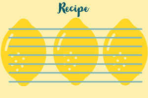Yellow Blank Lemons Recipe Card 조리법 카드