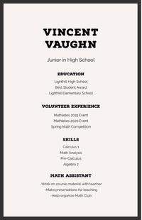 Vincent Vaughn High School Resumes