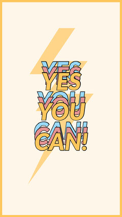 YES<BR>YOU<BR>CAN! Background