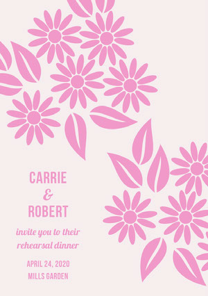 CARRIE <BR>& <BR>ROBERT  Rehearsal Invitation
