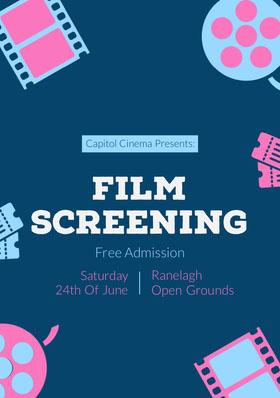 cinema flyer  Folleto de invitación a evento