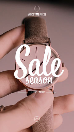 Watches Sale Season Instagram Story Discount