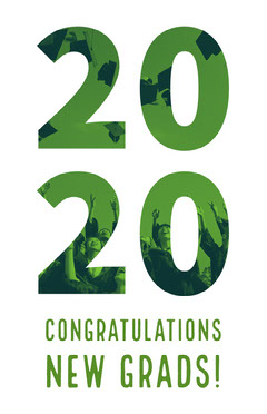 White and Green Graduation Poster Graduation Congratulation