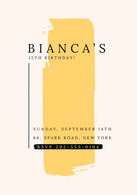 BIANCA'S Birthday Invitation (Girl)