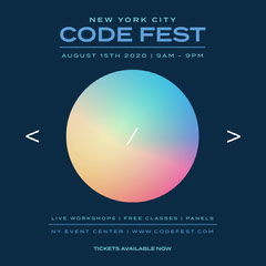 Rainbow Gradient Circle Code Fest Instagram Story Rainbow