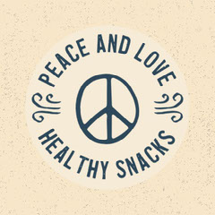 Navy and Cream Healthy Snacks Logo Instagram Square  Love