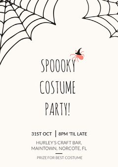 Spooky Costume Party Halloween Invitation Halloween Party Invitation