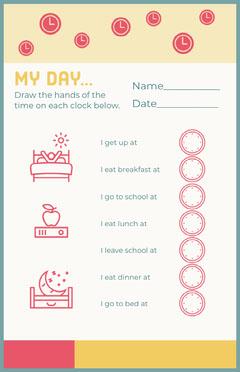 my day worksheet Breakfast