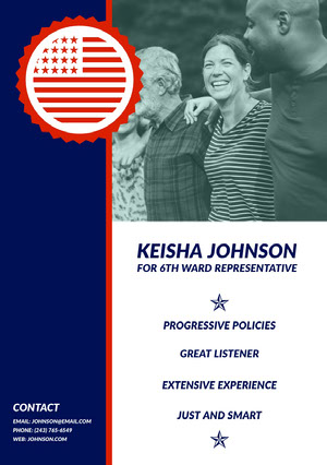 USA Political Candidate Flyer Kampagnenposter