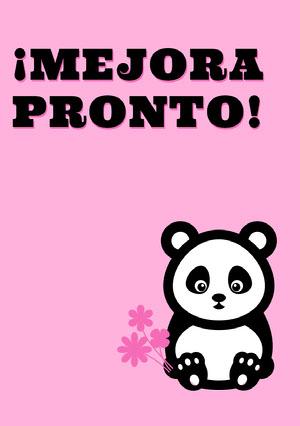 panda get well soon cards  Tarjeta de recupérate pronto