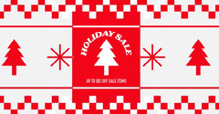 white and red holiday sale instagram landscape  Holiday Sale