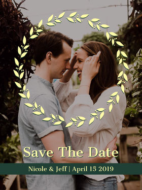 card  Save the date-kort