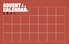 Red Grid Advent Calendar Poster Red