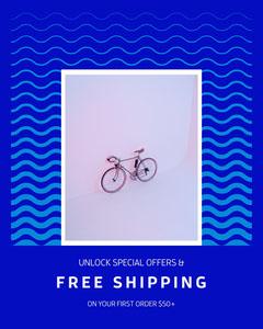 free shipping instagram portrait  Bike