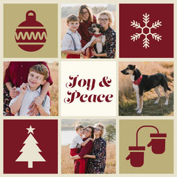 Red and Tan Multi-Photo Christmas Collage
