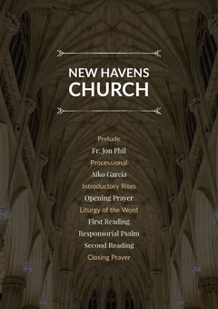 Black and White New Havens Church Flyer Sunday