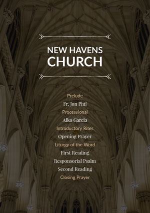 Black and White New Havens Church Flyer Aankondiging