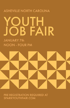 Brown and Yellow Youth Job Fair Poster Job Poster