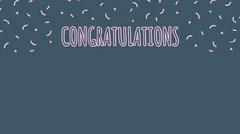 Navy & Pink Confetti Congratulations Zoom Background Confetti