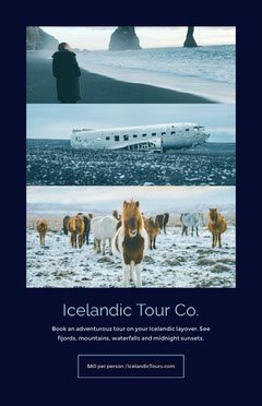 Book an adventurous tour on your Icelandic layover. See fijords, mountains, waterfalls and midnight sunsets.  Adventure