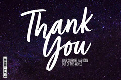 Space Galaxy Thank you Postcard Thank You Poster