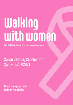 Walking with women Flyer Breast Cancer Flyer