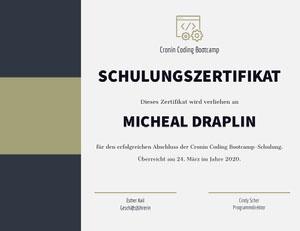 SCHULUNGSZERTIFIKAT Zertifikat