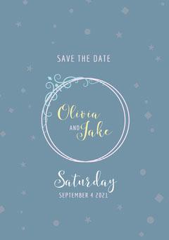 Blue and White Wedding Invitation Christmas Invitation